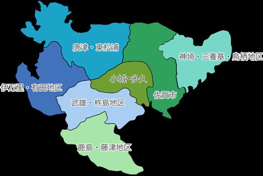 佐賀県マップ